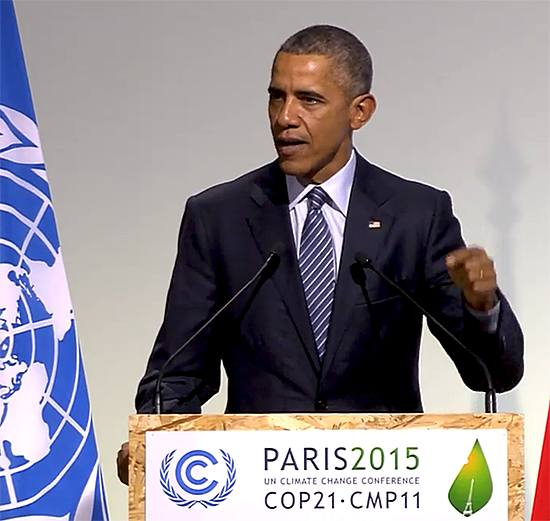 """Here in Paris let's secure an agreement that builds in ambition, where progress paves the way for regularly updated targets, targets that are not set for each of us by but by each of us, taking into account the differences that each nation is facing."" ~ President Obama"